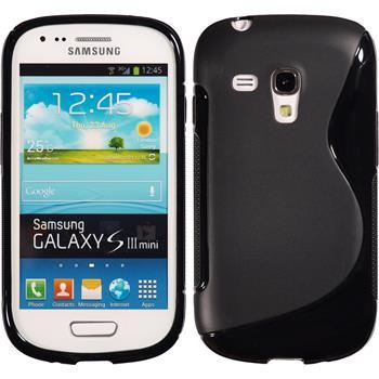 Silikon Hülle Galaxy S3 Mini S-Style schwarz