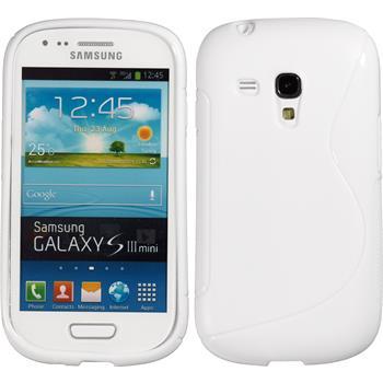 Silikon Hülle Galaxy S3 Mini S-Style weiß
