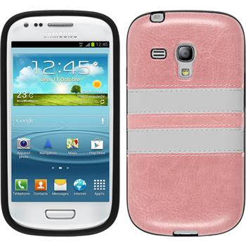 Silikonhülle für Samsung Galaxy S3 Mini Stripes rosa