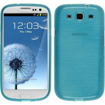 Silicone Case for Samsung Galaxy S3 Neo brushed blue