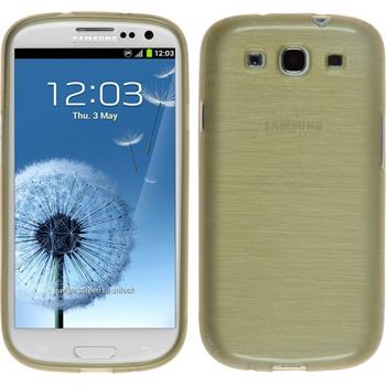 Silikon Hülle Galaxy S3 Neo brushed gold