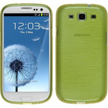 Silikon Hülle Galaxy S3 Neo brushed pastellgrün