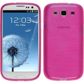 Silicone Case for Samsung Galaxy S3 Neo brushed hot pink