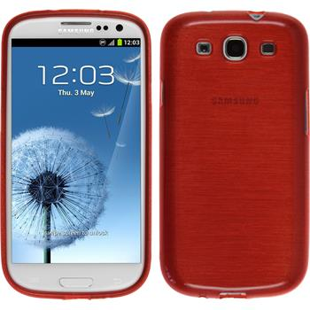 Silikonhülle für Samsung Galaxy S3 Neo brushed rot