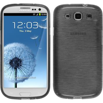 Silicone Case for Samsung Galaxy S3 Neo brushed silver
