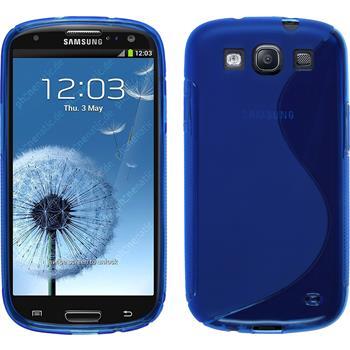 Silikon Hülle Galaxy S3 Neo S-Style blau