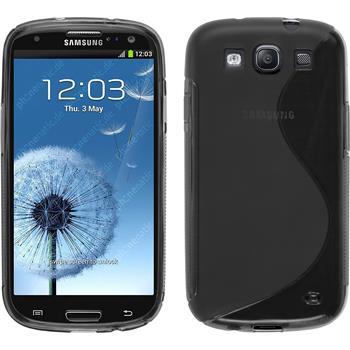 Silikon Hülle für Samsung Galaxy S3 Neo - S-Style grau