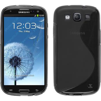 Silikon Hülle Galaxy S3 Neo S-Style grau