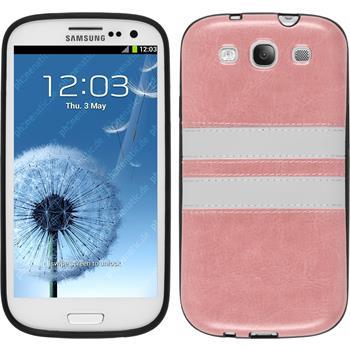 Silikon Hülle Galaxy S3 Neo Stripes rosa