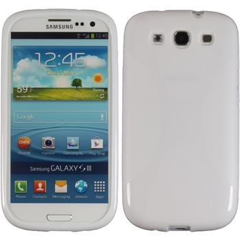 Silikon Hülle Galaxy S3 Neo X-Style weiß