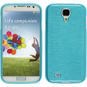 Silicone Case for Samsung Galaxy S4 brushed blue