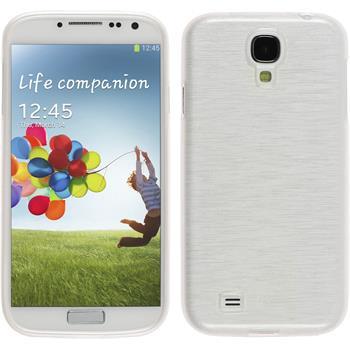 Silikonhülle für Samsung Galaxy S4 brushed weiß