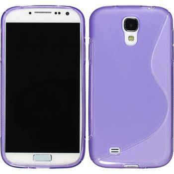 Silicone Case for Samsung Galaxy S4 S-Style purple