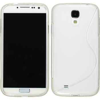 Silicone Case for Samsung Galaxy S4 S-Style transparent