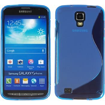 Silikon Hülle Galaxy S4 Active S-Style blau