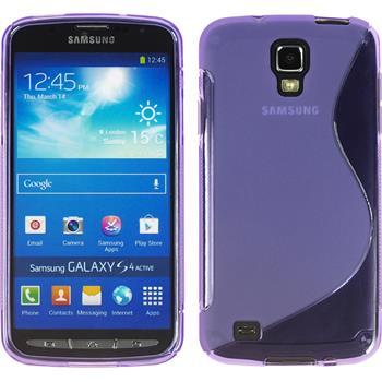 Silikon Hülle Galaxy S4 Active S-Style lila