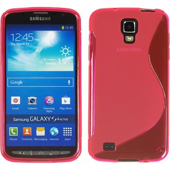Silicone Case for Samsung Galaxy S4 Active S-Style hot pink