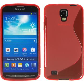 Silicone Case for Samsung Galaxy S4 Active S-Style red