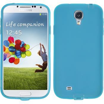 Silikon Hülle Galaxy S4 Dustproof blau