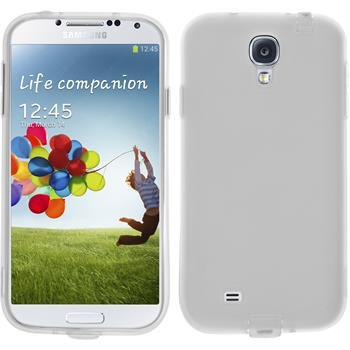 Silikon Hülle Galaxy S4 Dustproof weiß
