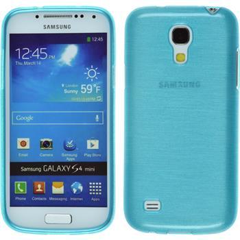 Silikon Hülle Galaxy S4 Mini brushed blau