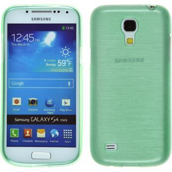 Silikonhülle für Samsung Galaxy S4 Mini brushed grün