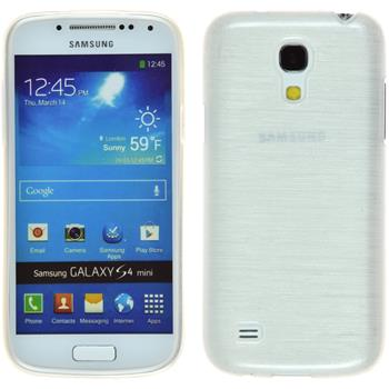 Silikon Hülle Galaxy S4 Mini brushed weiß