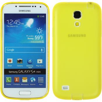 Silicone Case for Samsung Galaxy S4 Mini Dustproof yellow