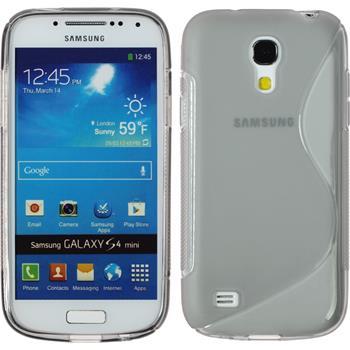 Silikon Hülle Galaxy S4 Mini S-Style grau