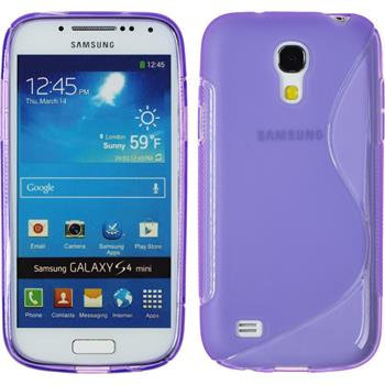 Silicone Case for Samsung Galaxy S4 Mini S-Style purple