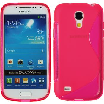 Silicone Case for Samsung Galaxy S4 Mini S-Style hot pink