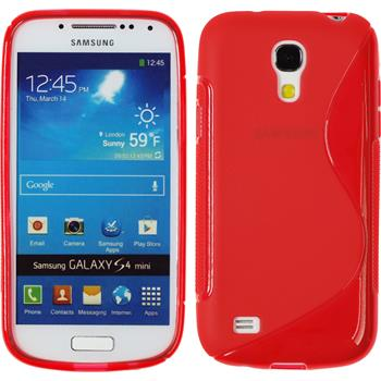 Silikon Hülle Galaxy S4 Mini S-Style rot