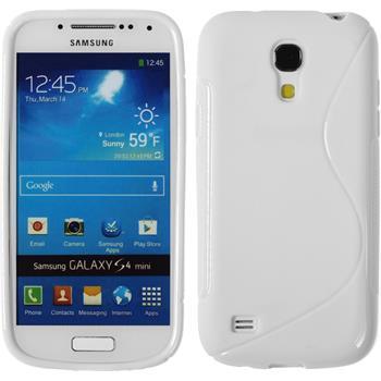 Silikonhülle für Samsung Galaxy S4 Mini S-Style weiß