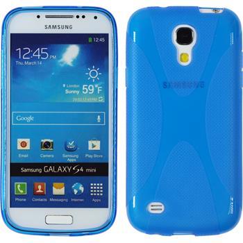Silicone Case for Samsung Galaxy S4 Mini X-Style blue