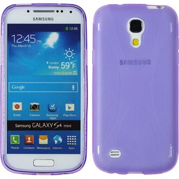 Silikon Hülle Galaxy S4 Mini X-Style lila