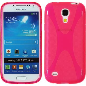 Silicone Case for Samsung Galaxy S4 Mini X-Style hot pink