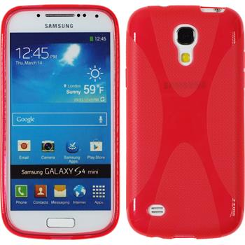 Silicone Case for Samsung Galaxy S4 Mini X-Style red
