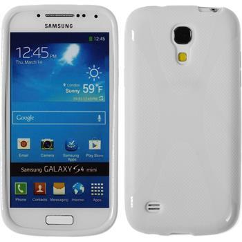 Silikon Hülle Galaxy S4 Mini X-Style weiß