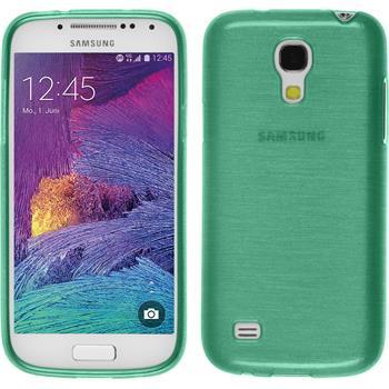 Silikon Hülle Galaxy S4 Mini Plus I9195 brushed grün