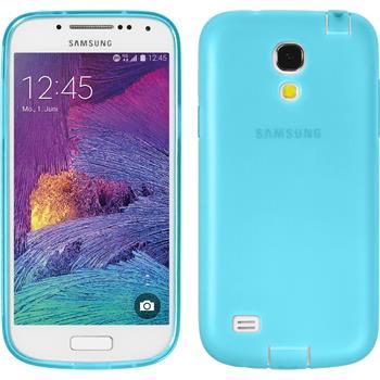 Silikon Hülle Galaxy S4 Mini Plus I9195 Dustproof hellblau