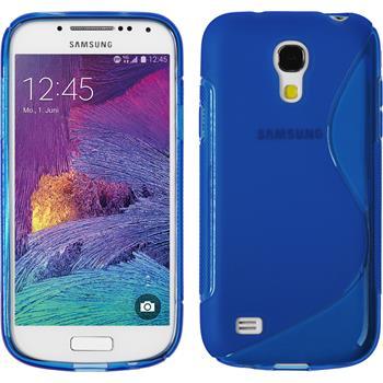 Silikon Hülle Galaxy S4 Mini Plus I9195 S-Style blau