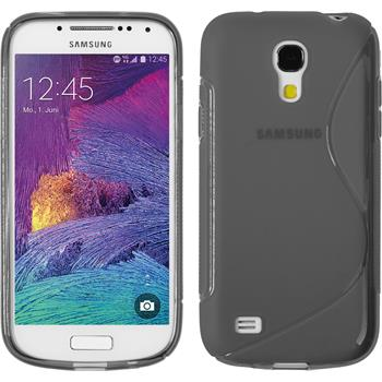 Silikon Hülle Galaxy S4 Mini Plus I9195 S-Style grau