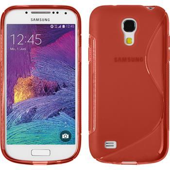 Silikon Hülle Galaxy S4 Mini Plus I9195 S-Style rot