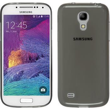 Silikon Hülle Galaxy S4 Mini Plus I9195 Slimcase grau