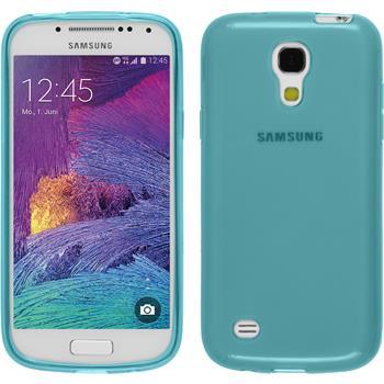 Silikon Hülle Galaxy S4 Mini Plus I9195 transparent türkis