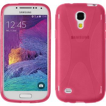 Silikon Hülle Galaxy S4 Mini Plus I9195 X-Style pink