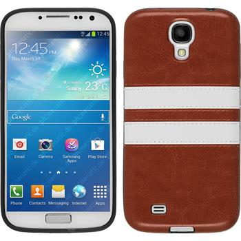 Silicone Case for Samsung Galaxy S4 Stripes brown