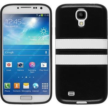 Silikon Hülle Galaxy S4 Stripes schwarz