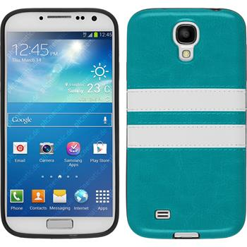 Silicone Case for Samsung Galaxy S4 Stripes turquoise