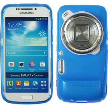 Silikon Hülle Galaxy S4 Zoom matt blau